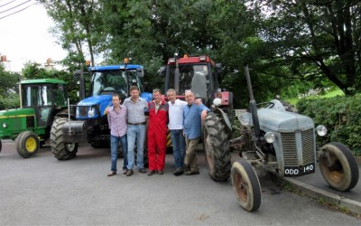 Dudleys tractors at Halwill Junction 22nd August 2015
