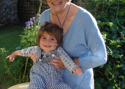 In the garden with Granny, July 2014